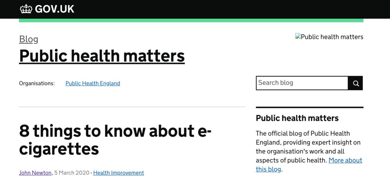 改变你的偏见:英国卫生部最新揭示电子烟8大真相