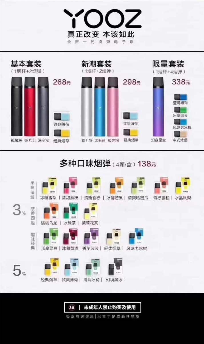 relx悦刻和yooz柚子电子烟对比,哪个好,哪个更实惠,哪个更值得买?