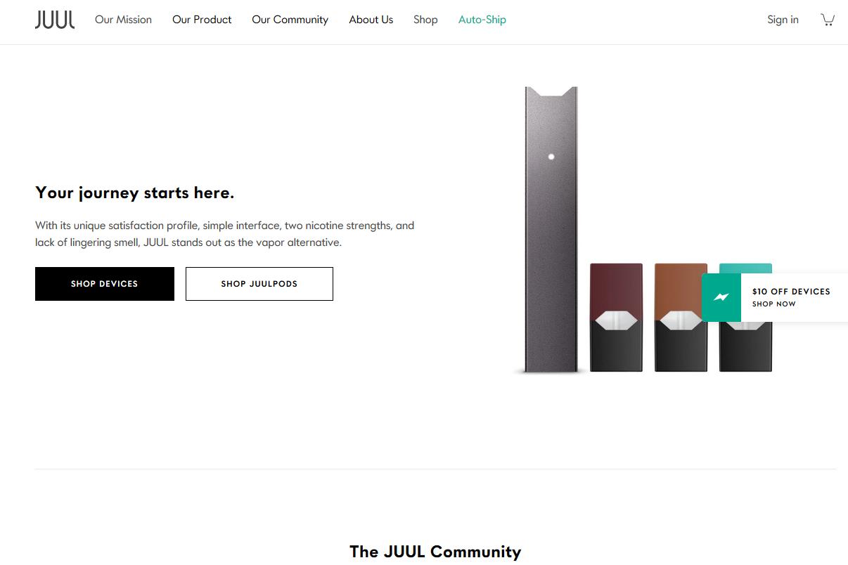 全球第一品牌JUUL电子烟美国官网网址是多少?