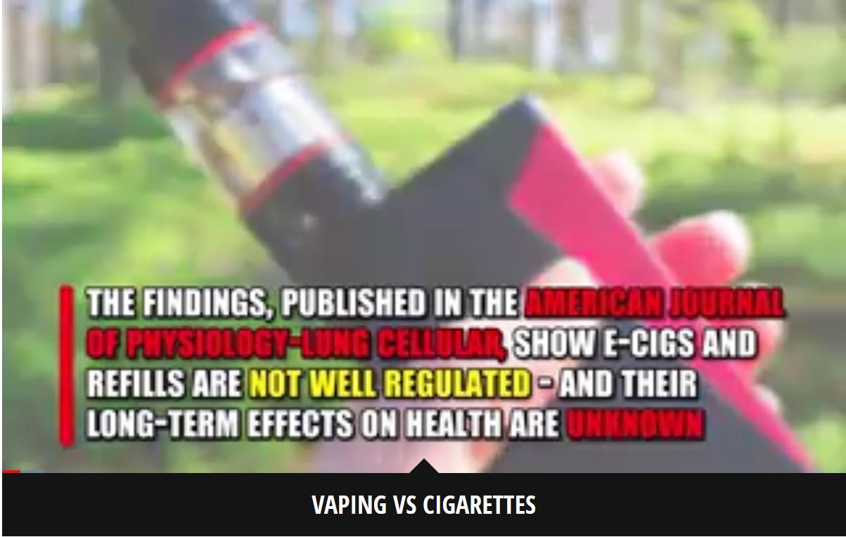 """研究警告称,带有加热元件的电子烟会对肺造成""""严重""""损害"""